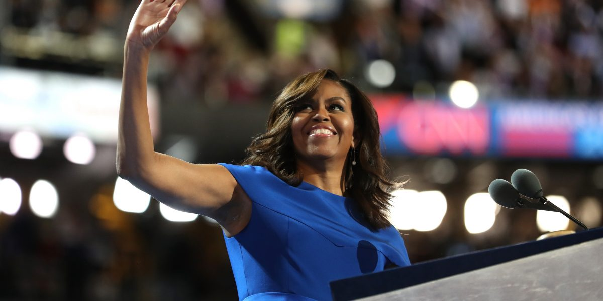 Captan al natural a Michelle Obama