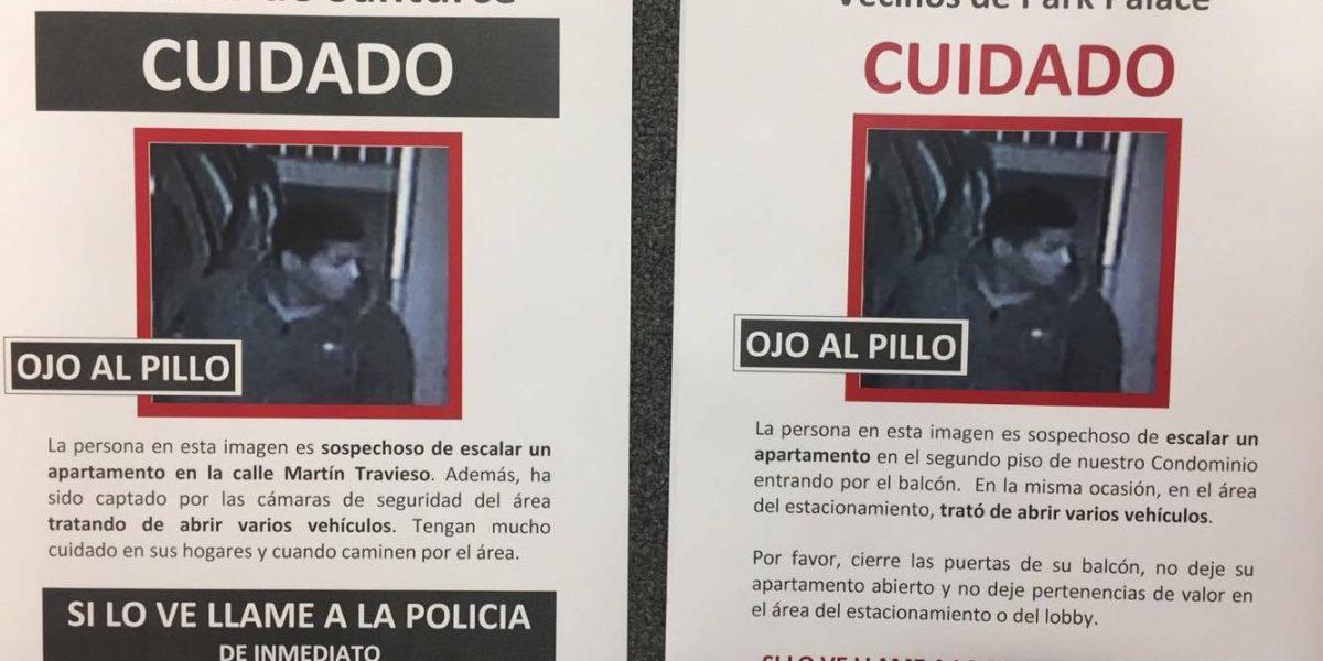 Divulgan fotos de supuesto ladrón en San Juan