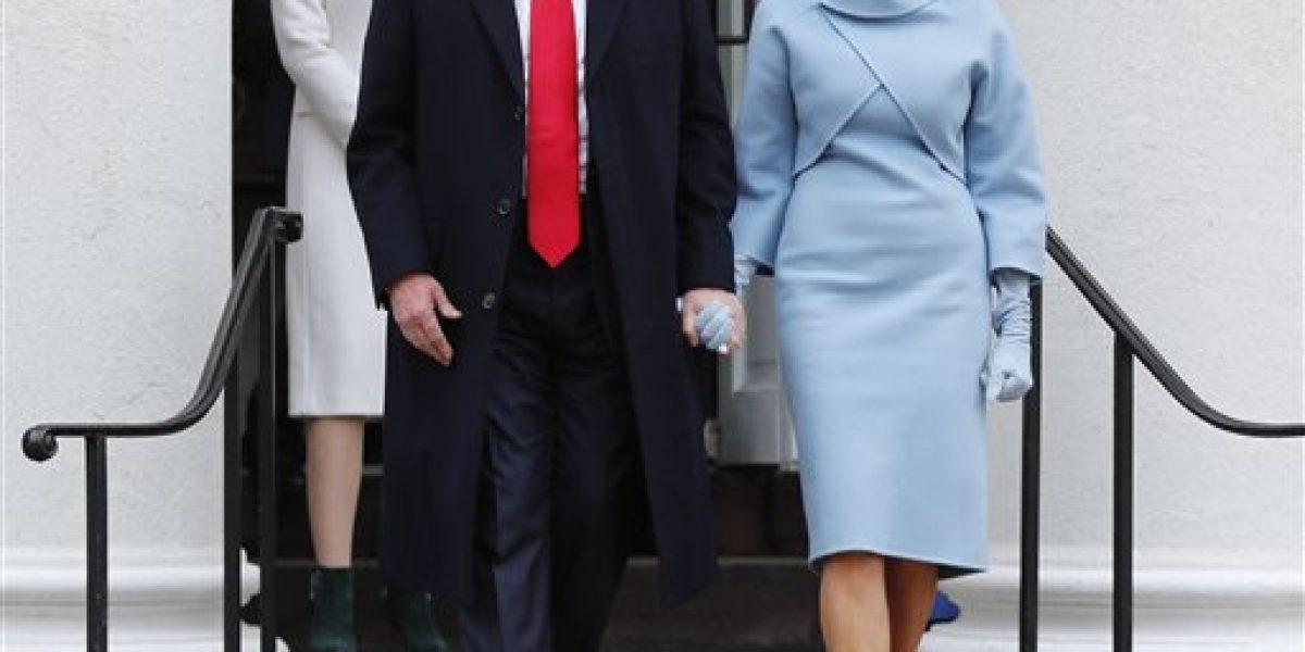 Melania Trump luce espectacular atuendo de Ralph Lauren