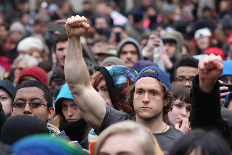 Protestas en Washington D. C., luego de juramentación del presidente Donald Trump. / Foto: David Cordero Mercado