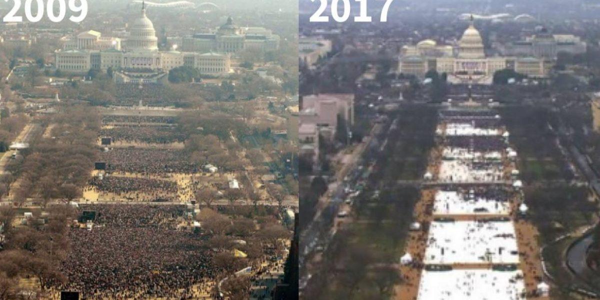 Comparan última inauguración de Obama con la de Trump