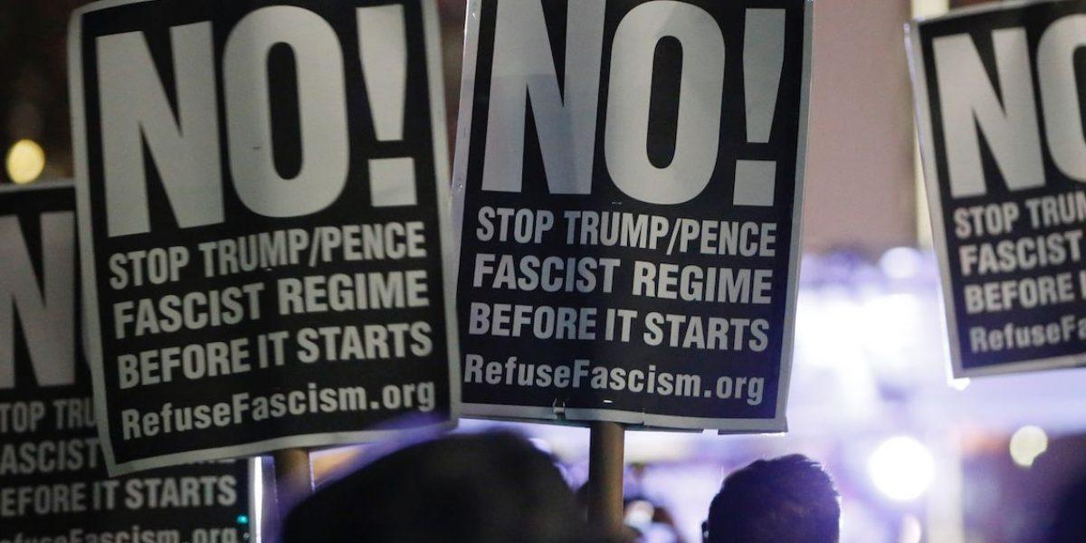 Ventanas rotas y enfrentamientos durante asunción de Trump