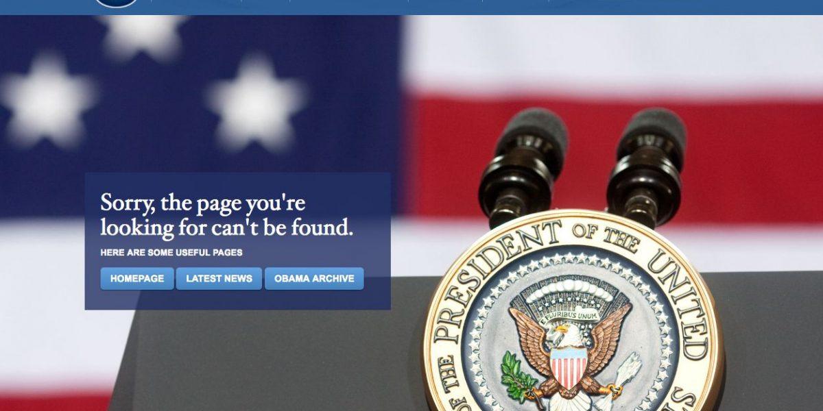 Desaparece página web en español de la Casa Blanca