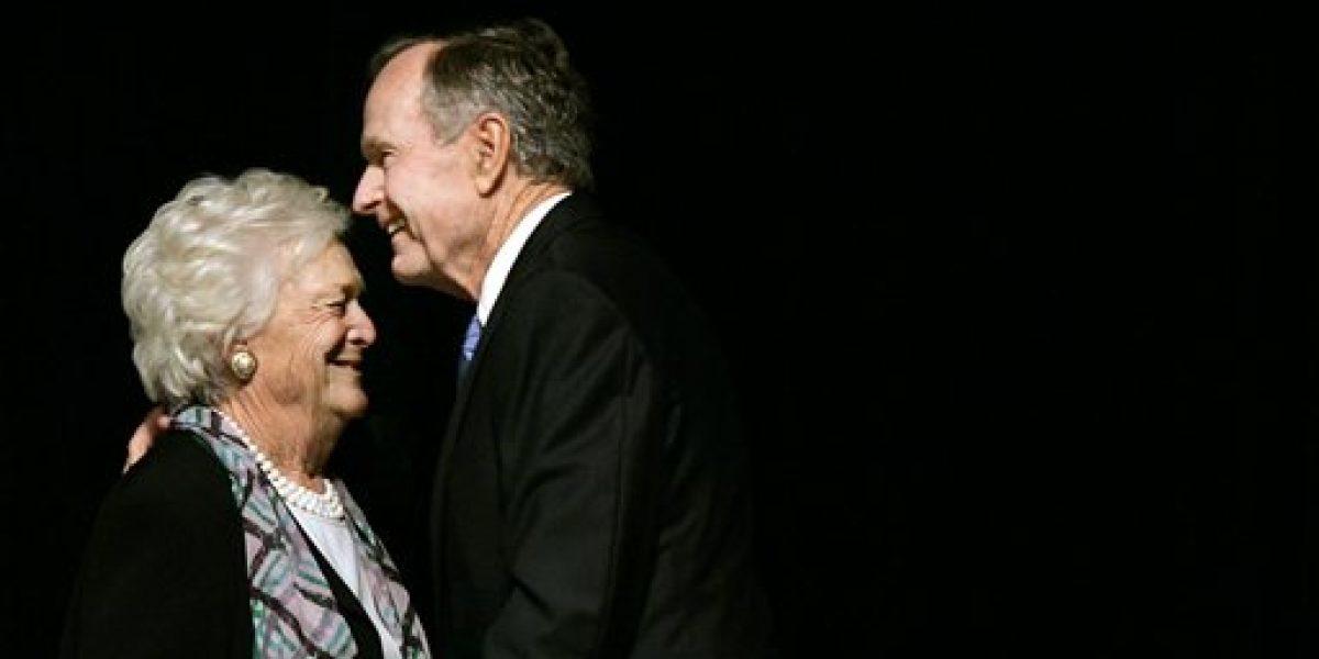 Mejora salud del ex presidente George H.W. Bush y su esposa