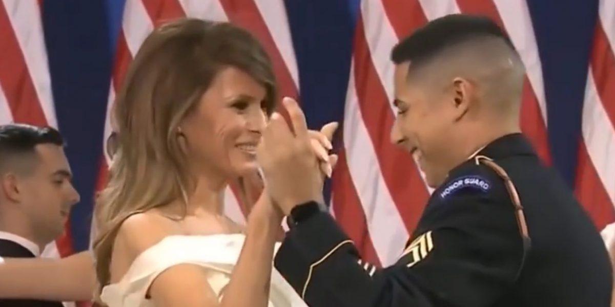 Puertorriqueño baila con Melania Trump
