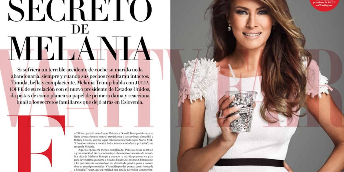 Melania Trump protagoniza portada Vanity Fair México