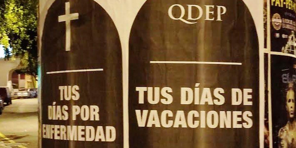 """Calles de San Juan amanecen con """"tumbas"""""""