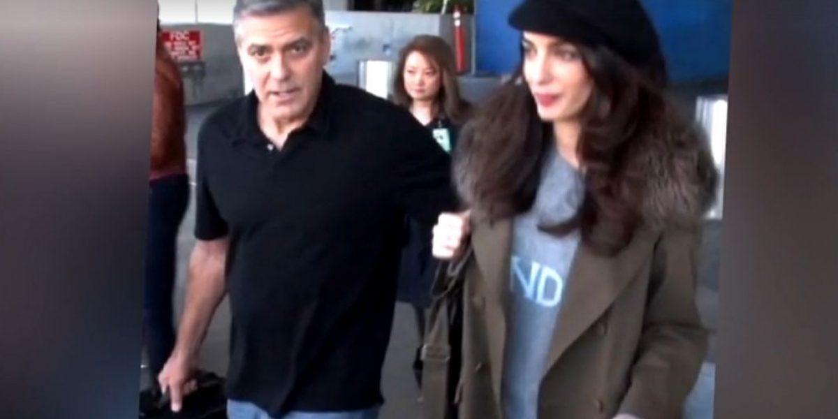 Aseguran George Clooney y su esposa esperan gemelos