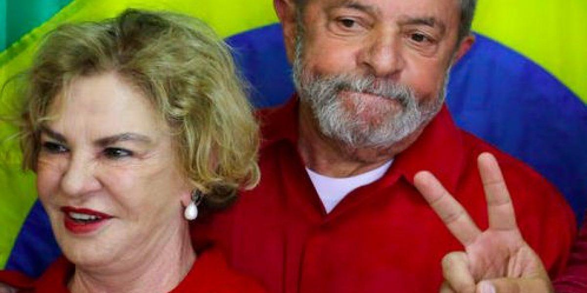 Con muerte cerebral la esposa de Lula da Silva