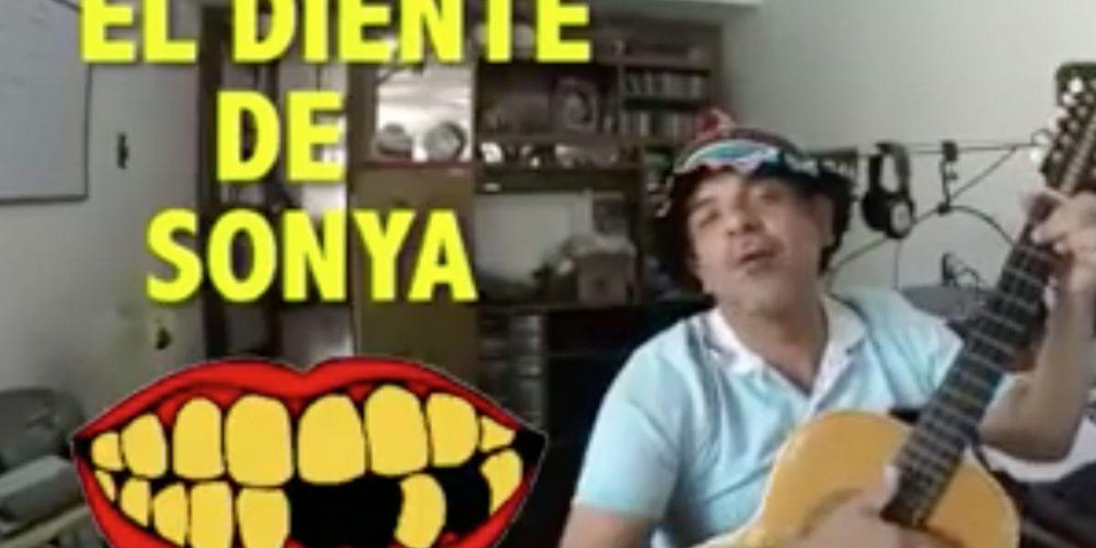 John Jairo Pérez dedica canción al diente de Sonya
