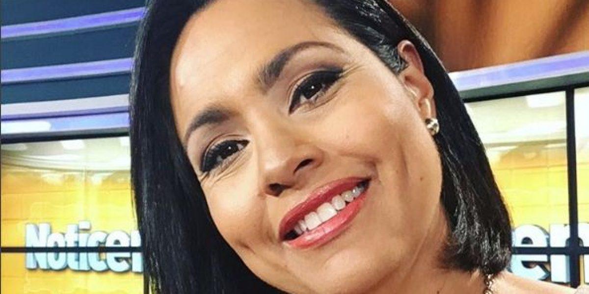 Keylla Hernández alegre y agradecida