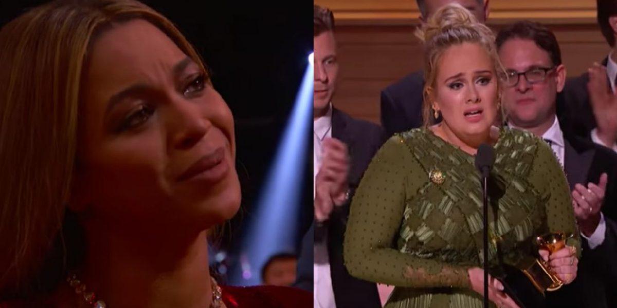 Emotivo discurso de Adele a Beyoncé en los Grammy