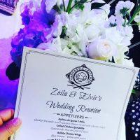 Menú boda Zoila Ceballos