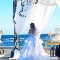 Zoila Ceballos vestida de novia