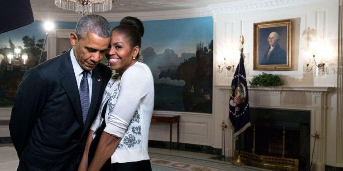 Michelle y Obama intercambian románticos mensajes en San Valentín