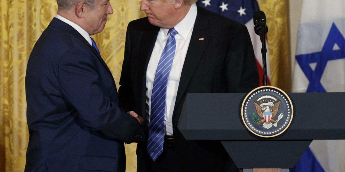 Trump dice que promoverá la paz entre Israel y Palestina