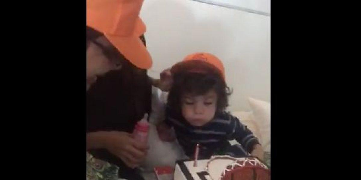Sorprenden a Sebastián José en su cumpleaños