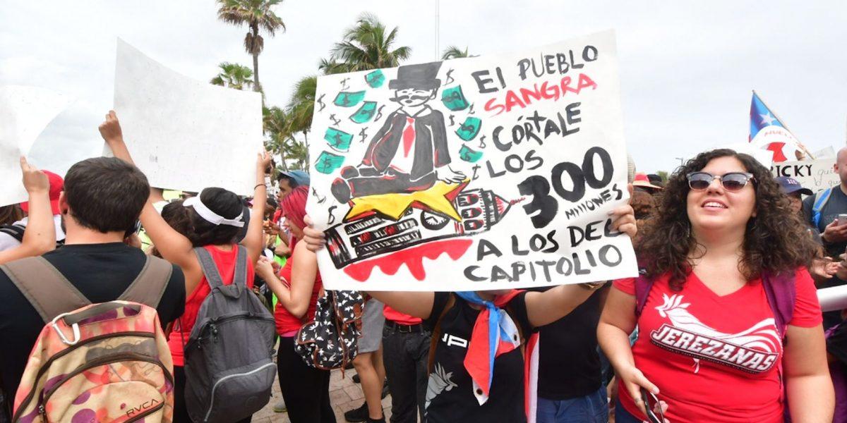 Pura creatividad en las pancartas de la marcha de la UPR