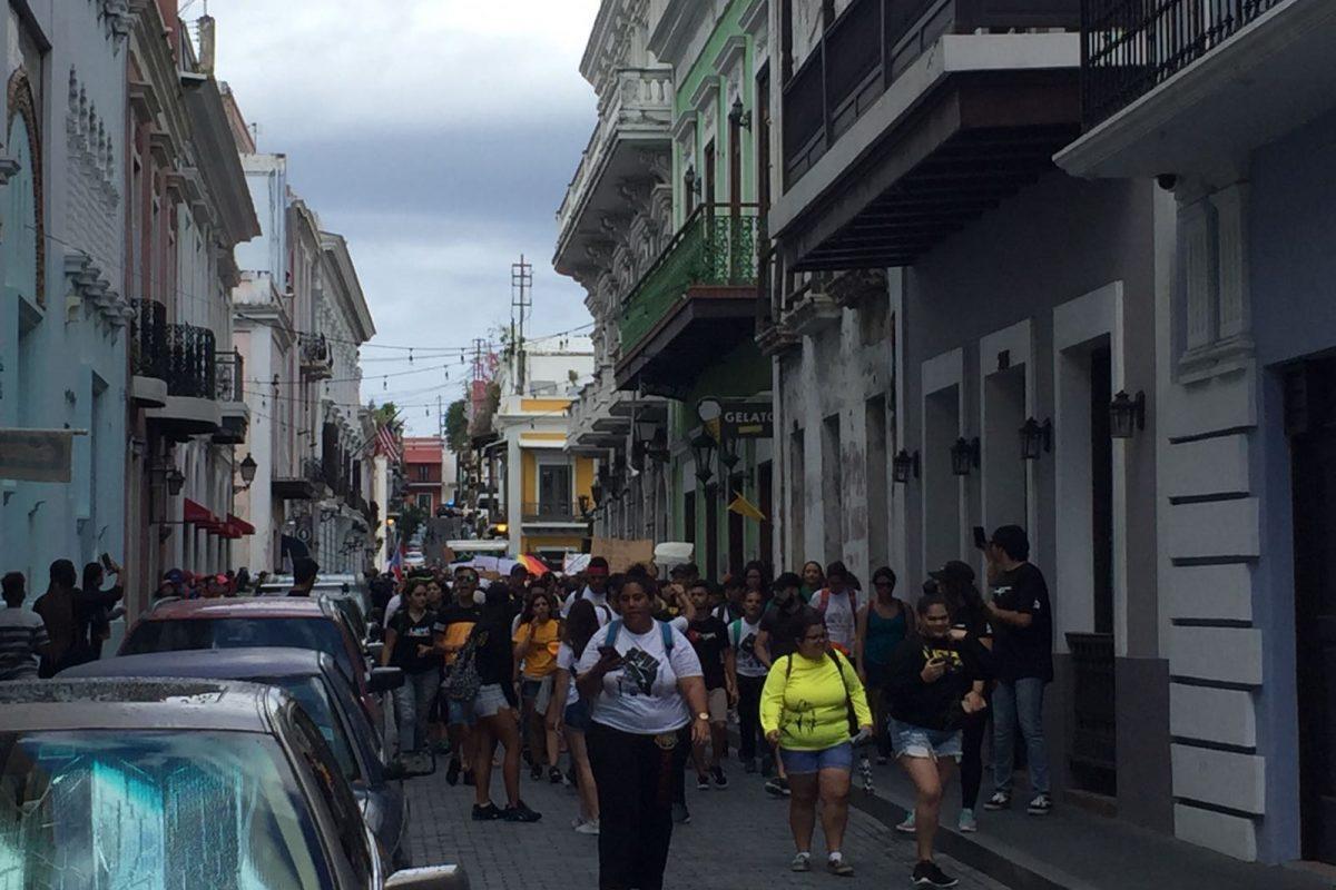 marcha UPR Viejo San Juan