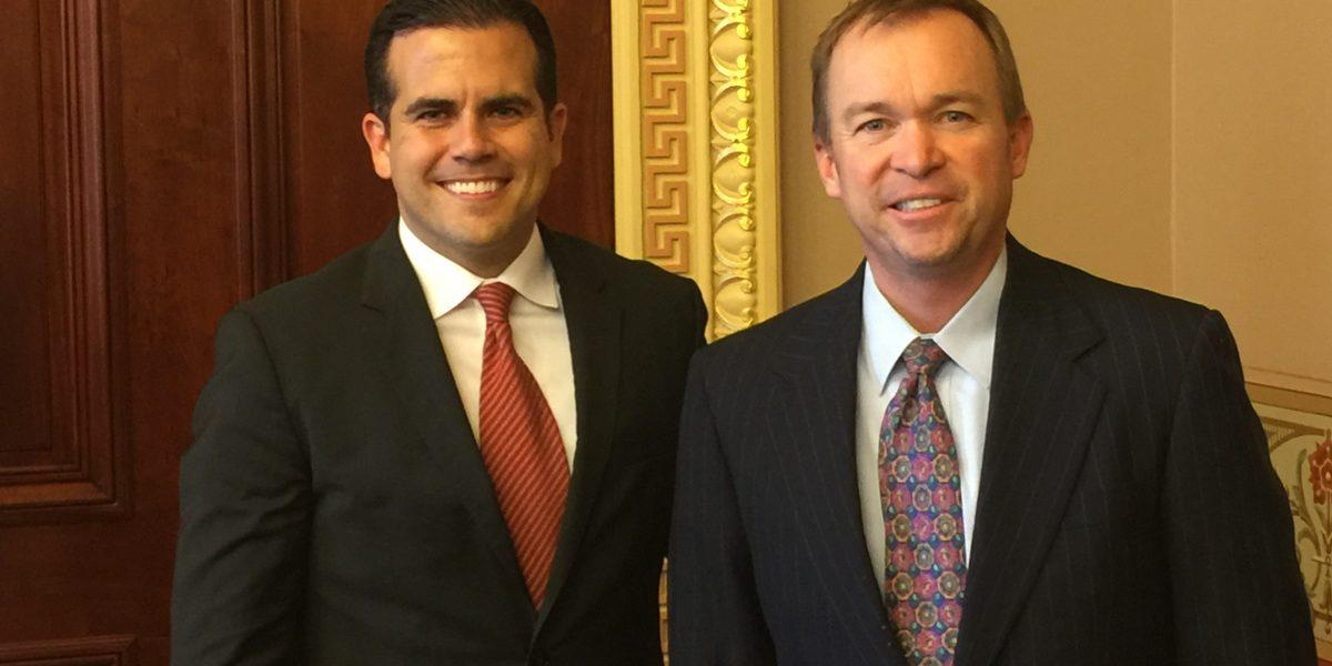 Gobernador se reúne con asesor legislativo del presidente Trump