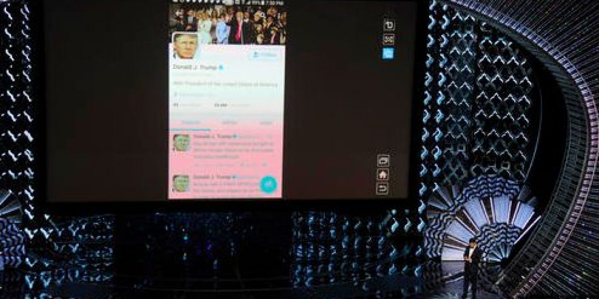 Jimmy Kimmel le tuitea a Trump desde los Óscar