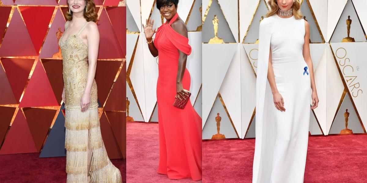 ¿Quiénes fueron las mejores y peores vestidas de los Oscars 2017?