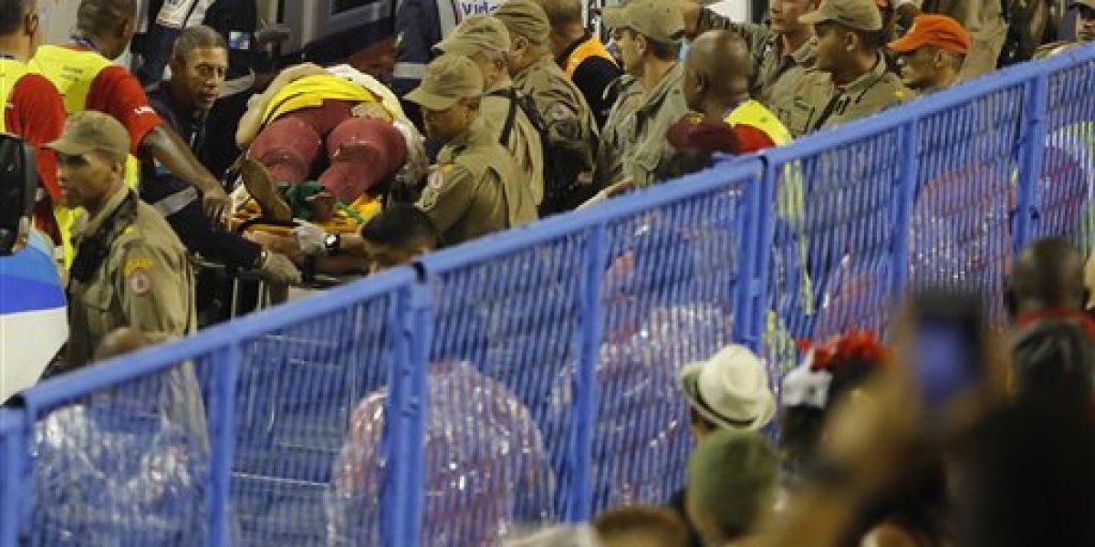 Choque de una carroza en el Carnaval de Río deja 20 heridos