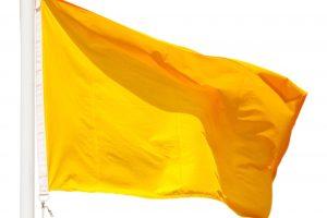 Catorce playas con bandera amarilla