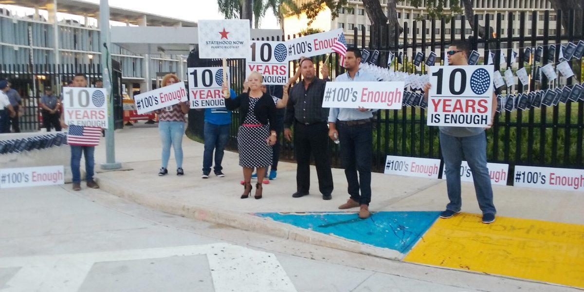 Realizan manifestación contra de desigualdad de derechos para los puertorriqueños