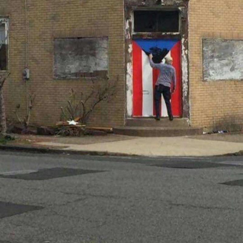 bandera dañada Trenton, Nueva Jersey