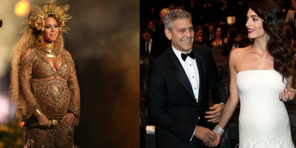 Padres de mellizos dan consejos a Amal Clooney y Beyonce