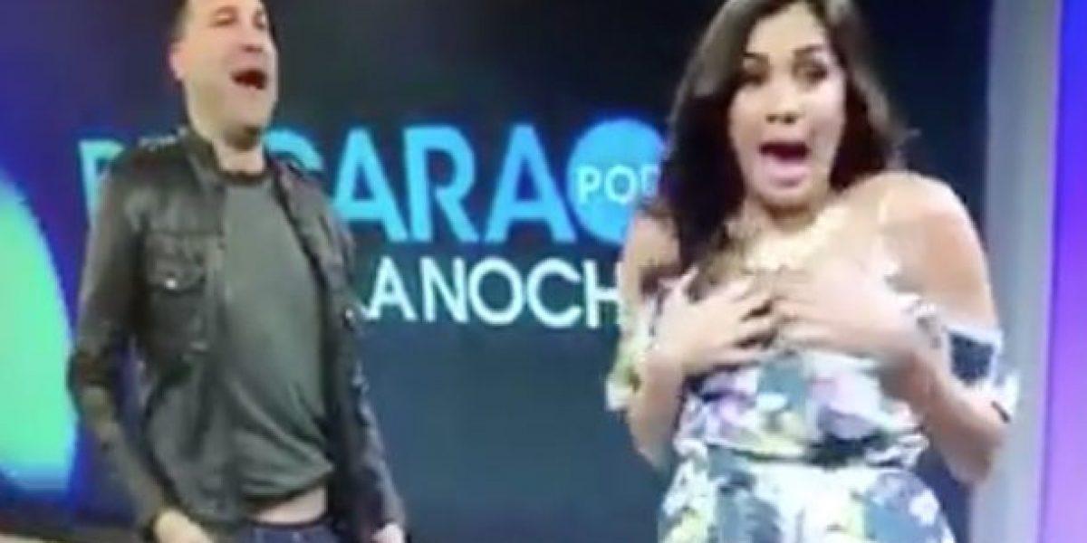 Presentadora boricua sufre pequeño accidente en televisión
