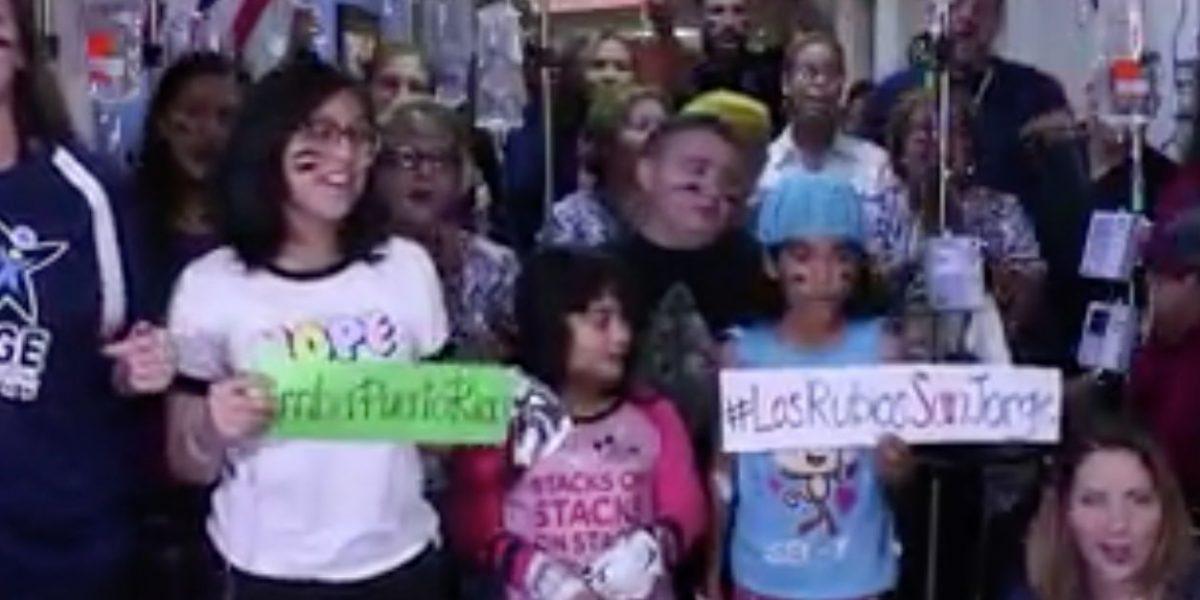 Pacientes y empleados del hospital San Jorge rinden homenaje a Los Nuestros