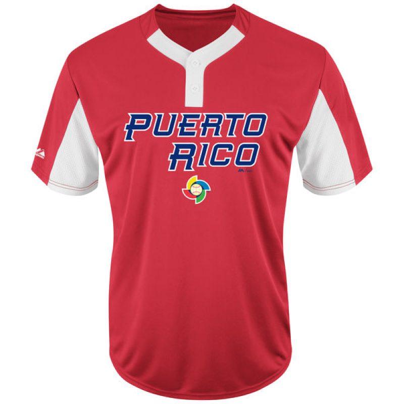 Vestimenta oficial del equipo de Puerto Rico en el Clásico Mundial de Béisbol 2017. / www.mlbshop.com. Imagen Por: Vestimenta oficial del equipo de Puerto Rico en el Clásico Mundial de Béisbol 2017. / www.mlbshop.com