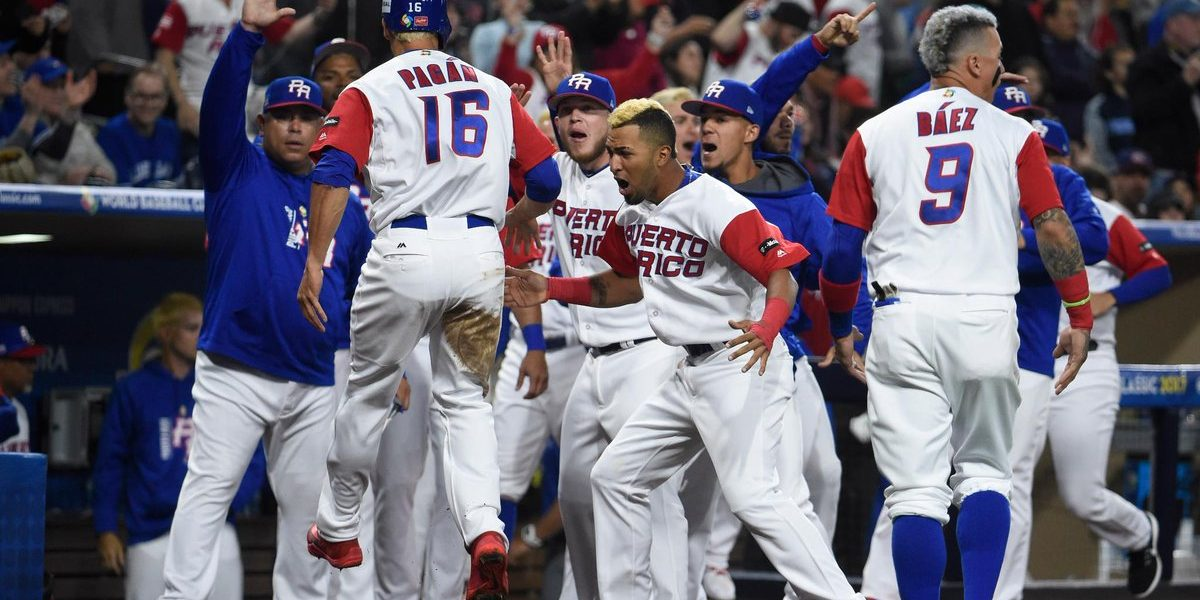 Puerto Rico vence a Estados Unidos y asegura pase a semifinal del WBC