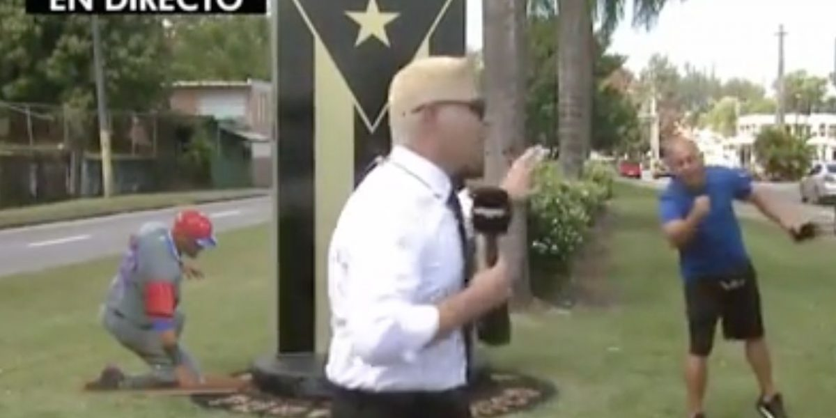 Hombre interrumpe transmisión en vivo para gritar