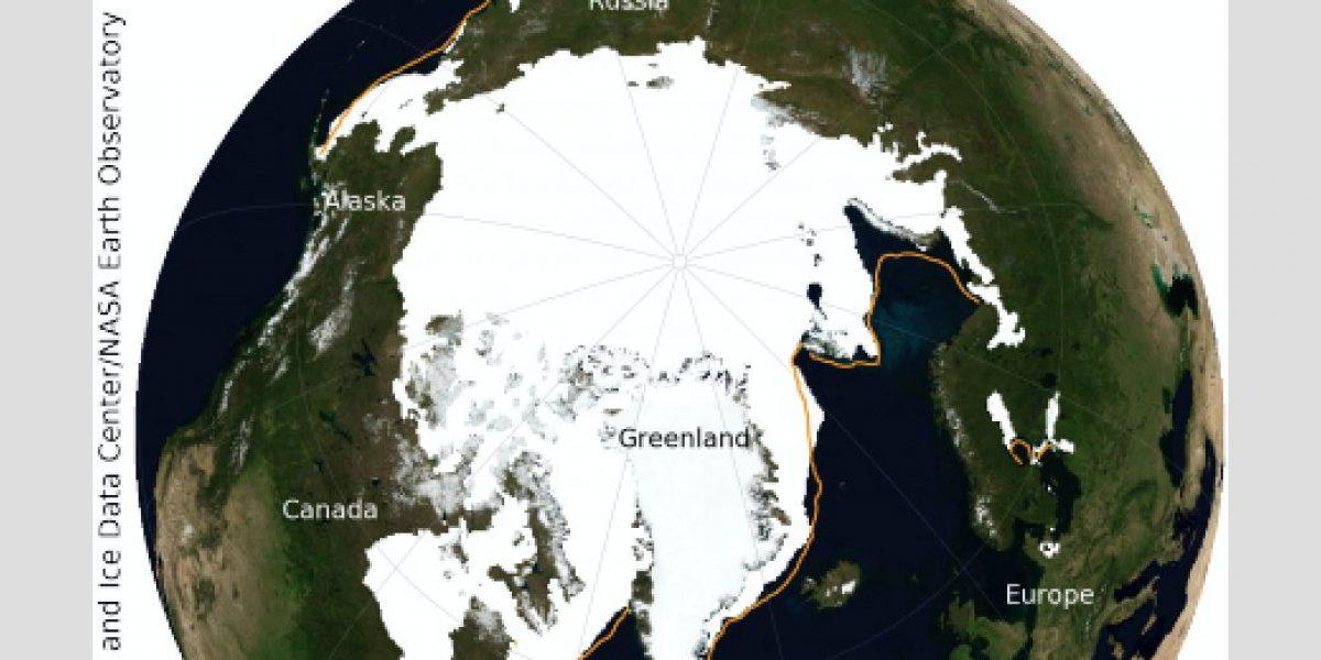 Se encoge zona de hielo marino en el Ártico
