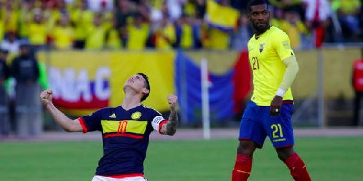 James y Colombia amansan a Ecuador en Quito