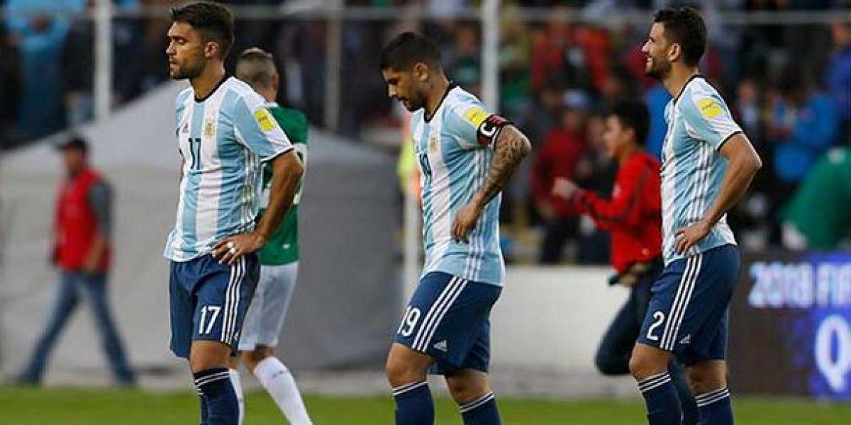 Sin Messi, Argentina cae 2-0 ante Bolivia y se alejan de la Copa Mundial
