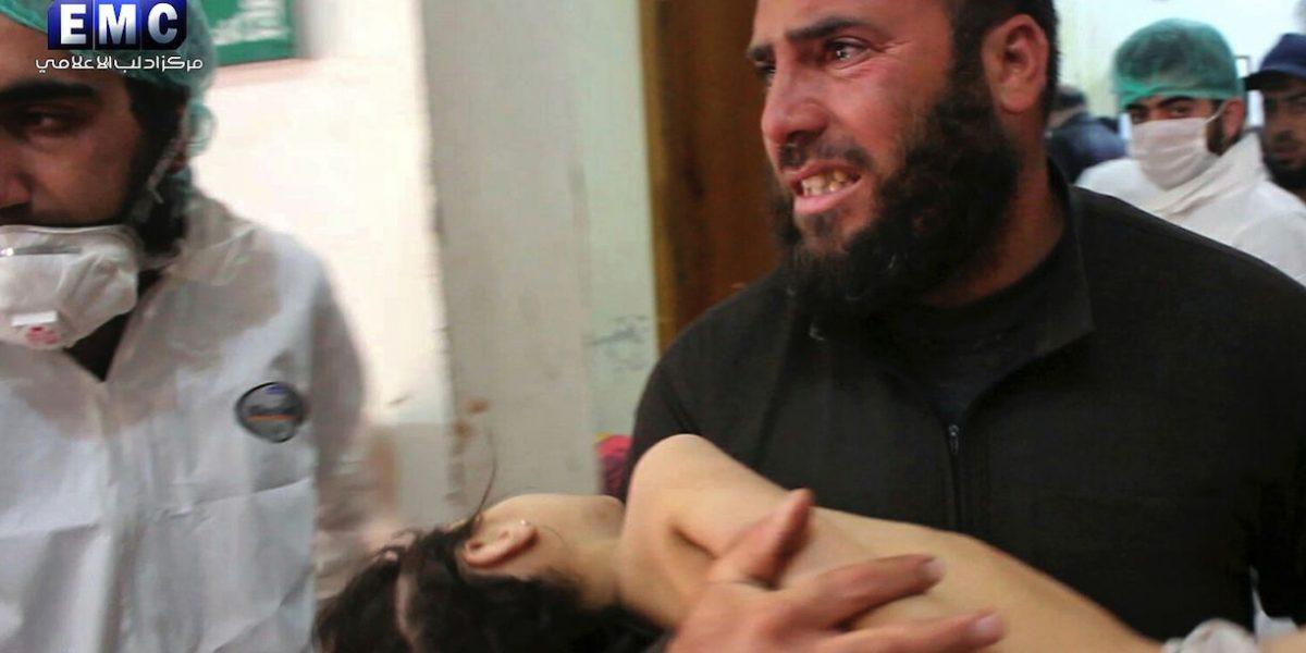 Suben a 86 los muertos por ataque químico en Siria