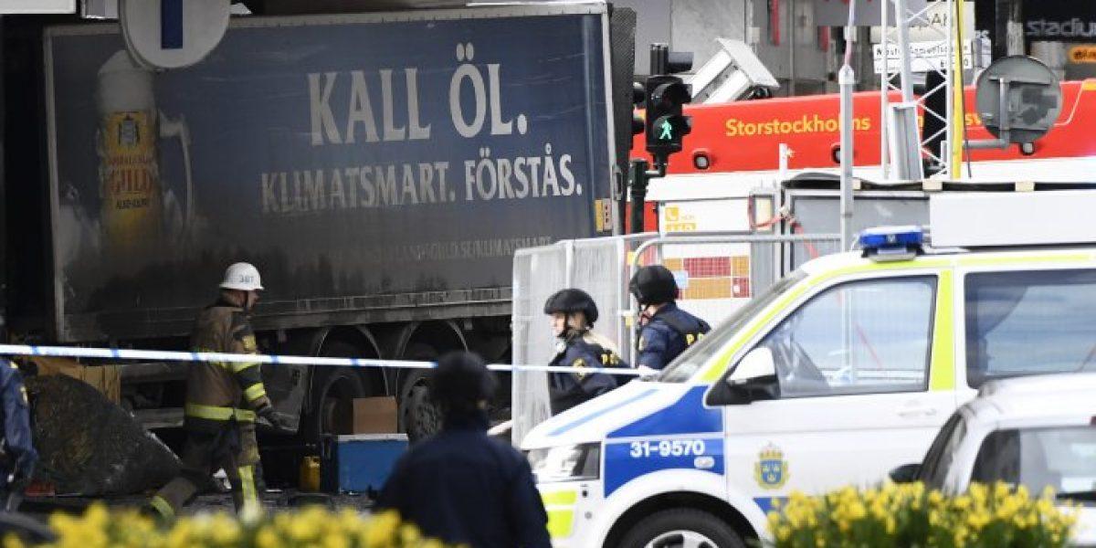 Arrestan a sospechoso de atentado en Estocolmo