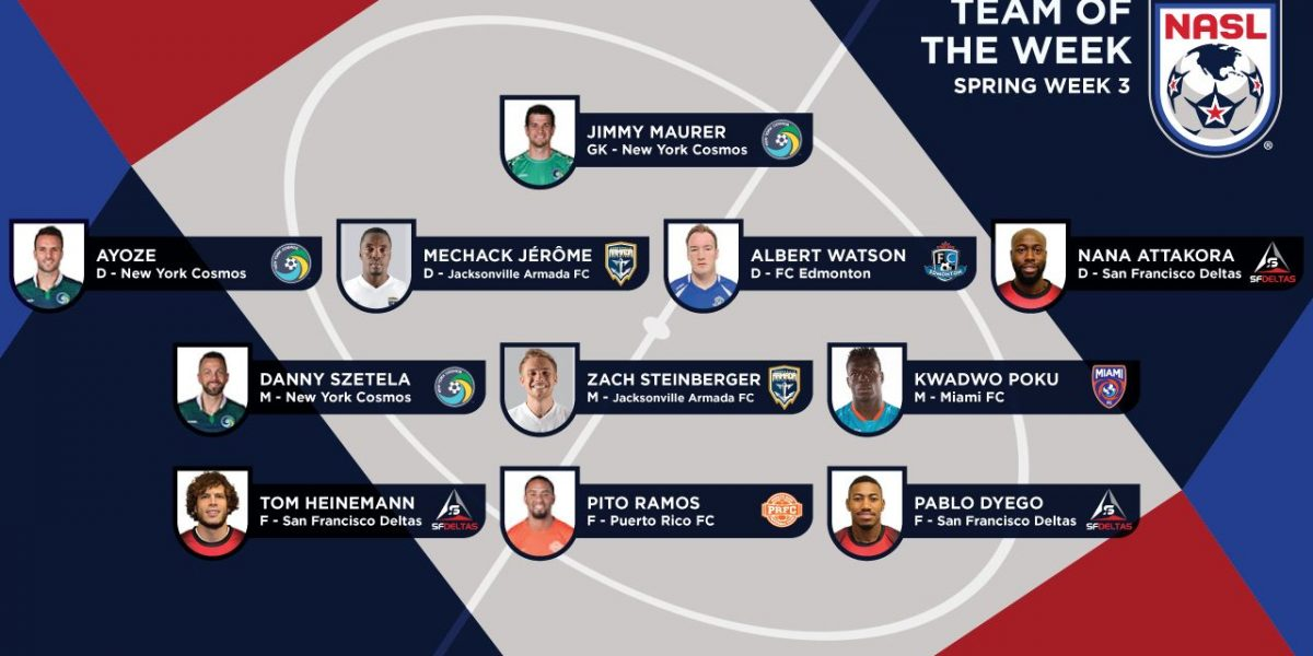 Jugador boricua nuevamente en equipo de la semana de la NASL