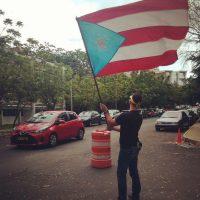 Los estudiantes marcharon hoy alrededor del complejo de Centro Médico y las instalaciones del RCM. / Foto: Suministrada