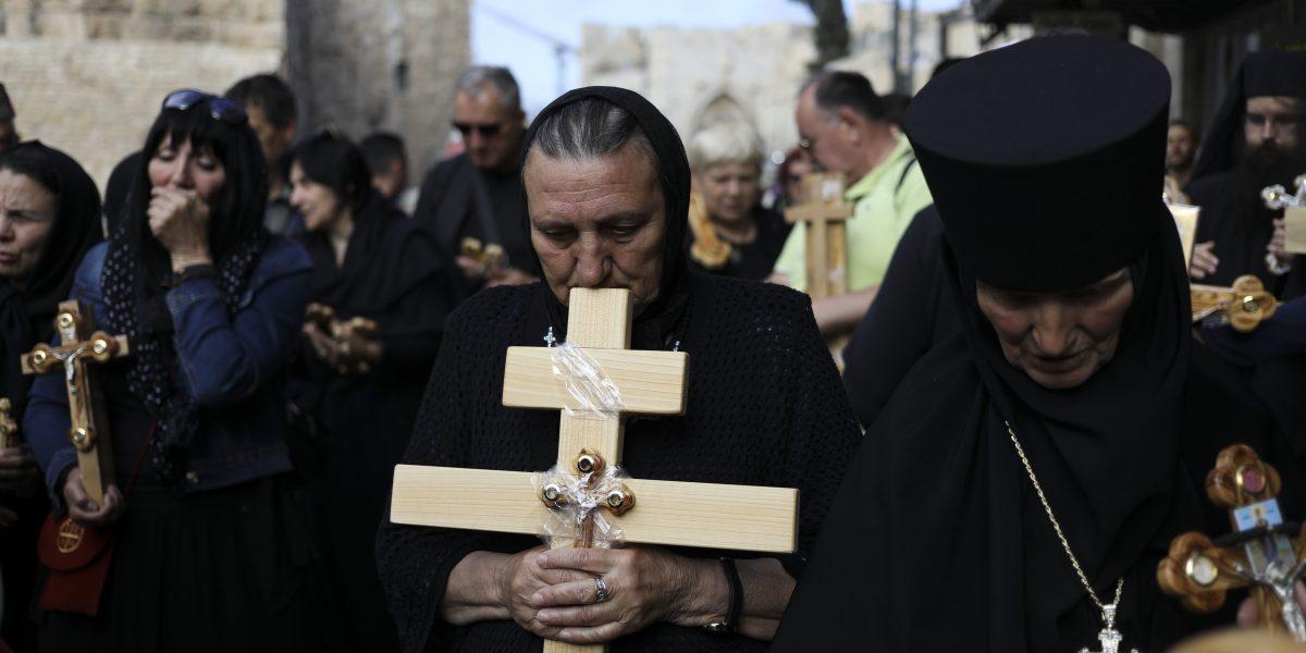 Cristianos observan Viernes Santo en Jerusalén