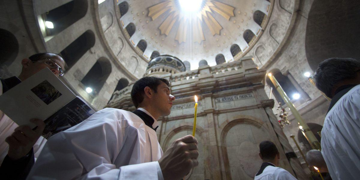 Cristianos celebran la Pascua en Tierra Santa