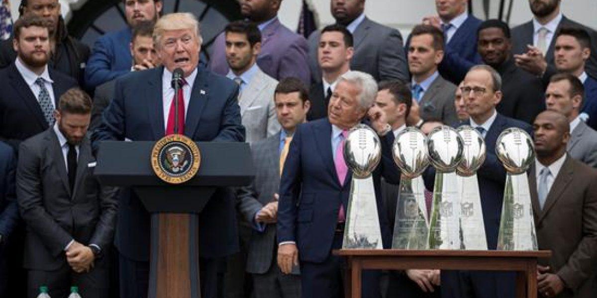 Varios jugadores de los Patriots dejan plantado a Trump