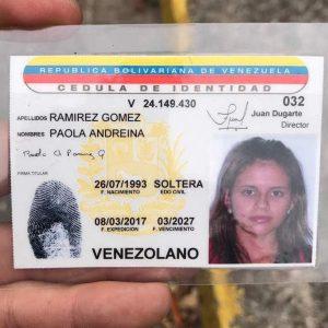 Identificación de la joven de 23 años que murió luego de recibir un impacto de bala en la cabeza hoy, 19 de abril de 2017, durante las protestas en Venezuela. / Foto: Suministrada a Metro Puerto Rico
