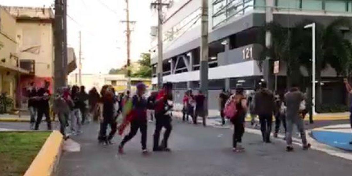 Estudiantes se movilizan a la Milla de Oro