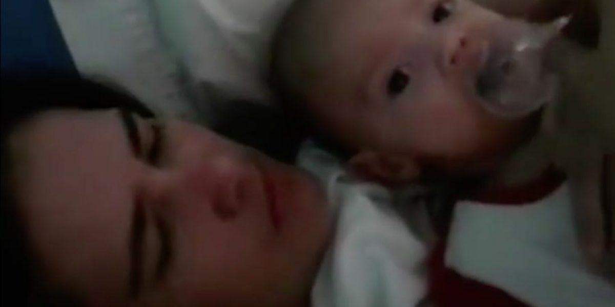 Argentina conoce a su bebé tras meses en coma