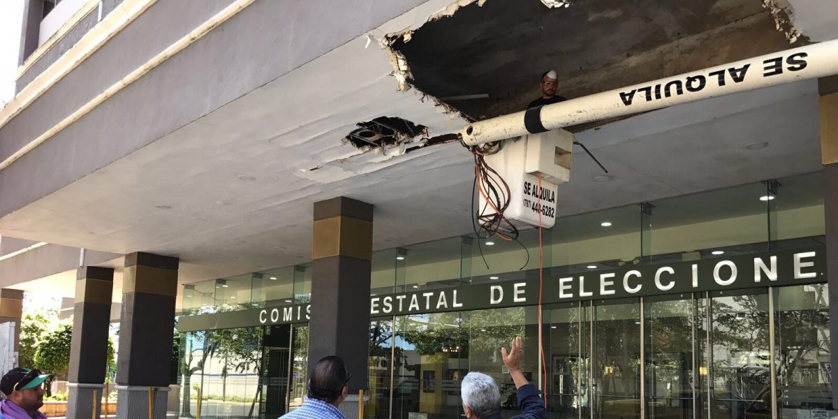 Inician los trabajos de reparación del techo de la CEE